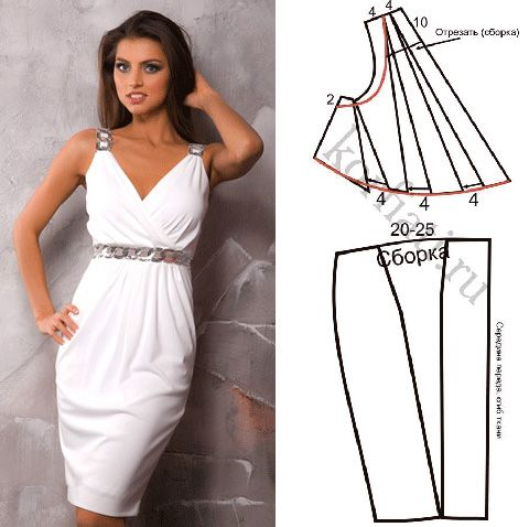 Эффектное платье в греческом стиле будет хитом вашего гардероба! Обязательно сшейте это потрясающее платье! Выкройка платья и подробные инструкции бесплатно