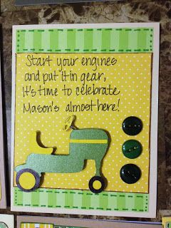 LMCreations-She Cave: John Deere Baby Shower invitations