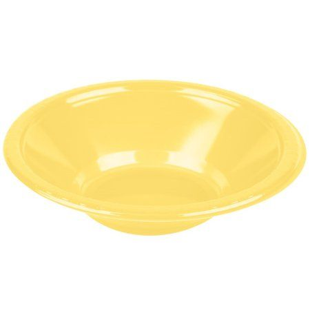 Touch of Color Plastic Bowl, 12 Oz, Mimosa, 20 Ct, Yellow