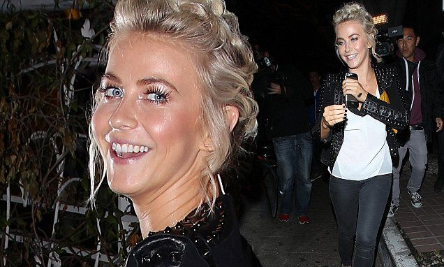 Julianne Hough can't stop smiling after dinner date with DWTS judges