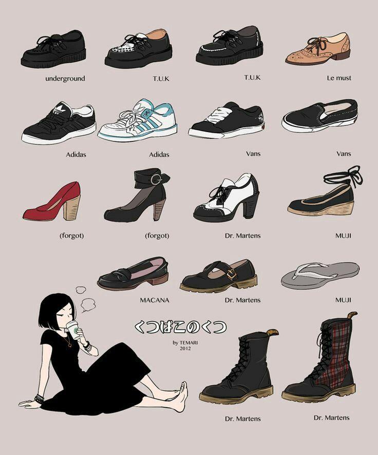 виды спортивной обуви названия с картинками королевский сад замке