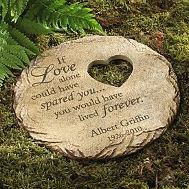 Unique gift idea for a death in the family-  Garden stone
