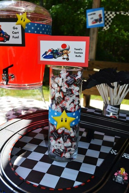 Super Mario Brothers / Mario Kart Wii Birthday Party Ideas | Photo 10 of 52 | Catch My Party