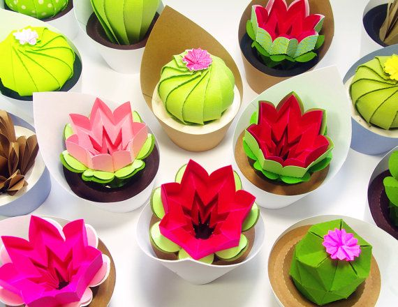 Origami succulents! Would be a cool gift for people to take home too.