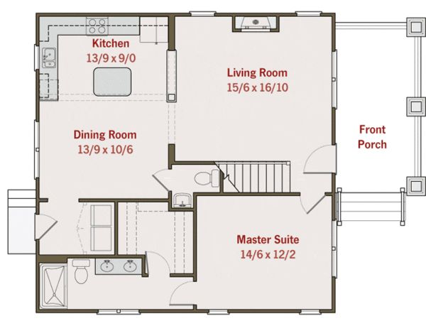 17 best images about small tiny house floorplans on for Tiny house with main floor bedroom