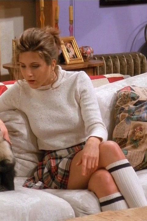 This fall schoolgirl outfit that is just straight-up Cher Horowitz | Rachel Green Friends Fashion - Rachel Green's Best Outfits on Friends