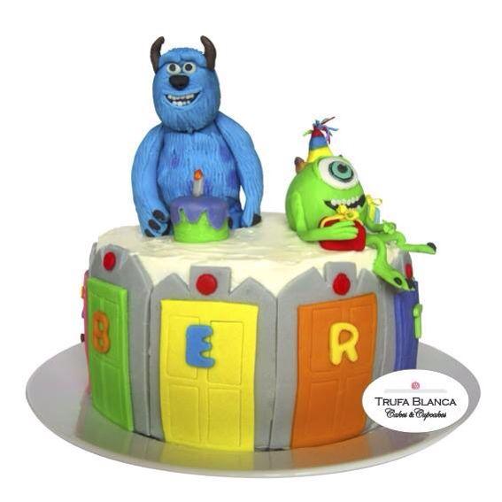 Monsters inc fondant cake Sullivan and mike wasausky birthday cake Pastel de fondant de monsters inc