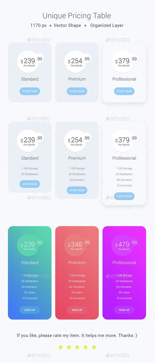 Best 25 pricing table ideas on pinterest table template unique pricing table template psd download here httpgraphicriver pronofoot35fo Images
