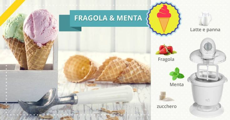 #fragola #menta #gelato #fattoincasa #estate #merenda #dessert #ricetta