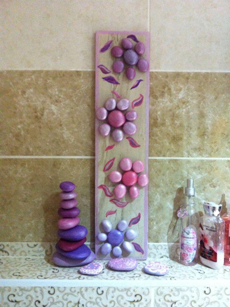 Taşlarla banyo dekoru