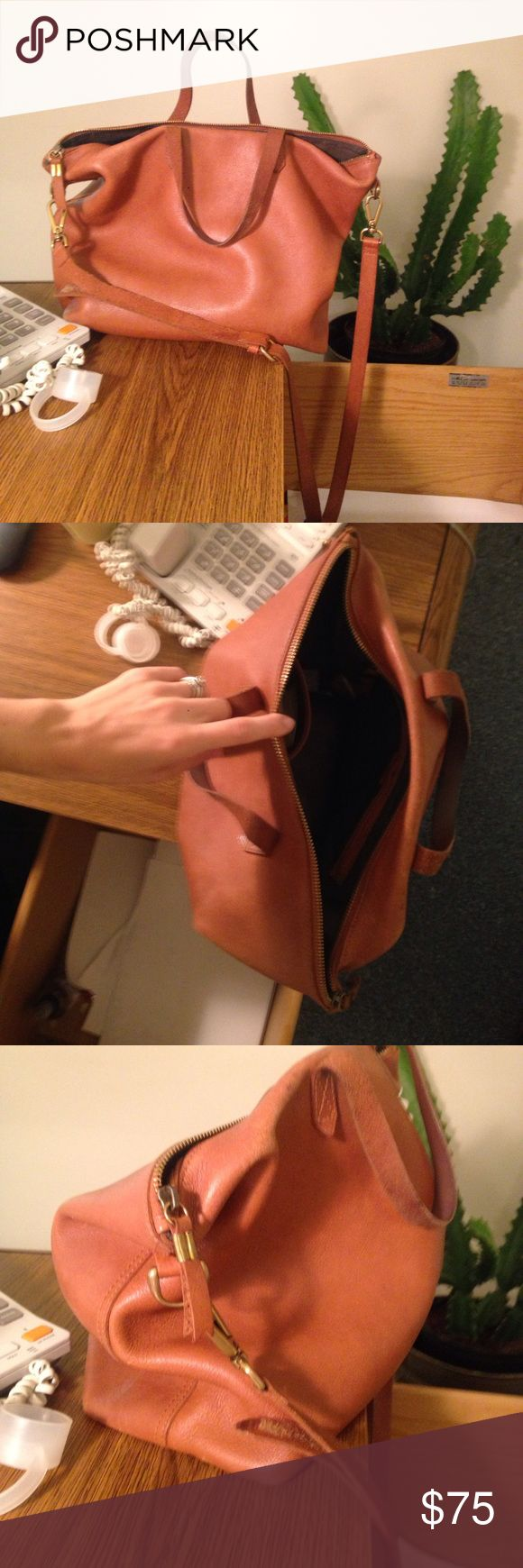 Madewell zip transport tote In good used condition. Price reflects use. Madewell Bags