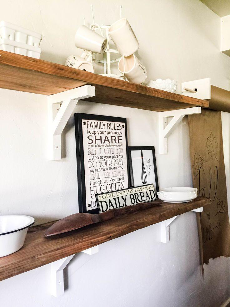 17 best ideas about reclaimed wood shelves on pinterest for Cheap floating shelves