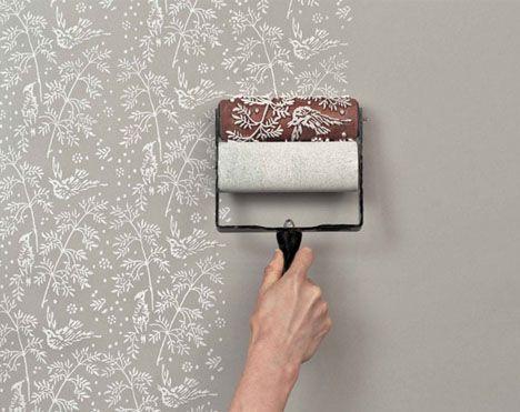 wallpaper roll on paint
