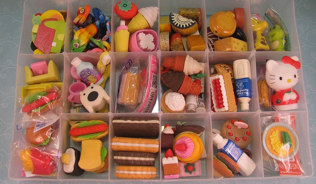 Miniature Food Erasers Collection