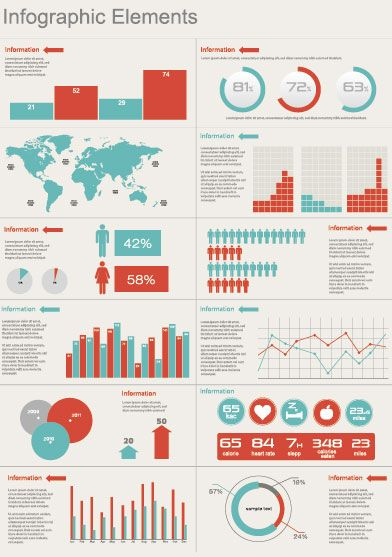 color+themes+for+infographics   Fresh Free Vector Infographic Elements Sets - Creative Beacon