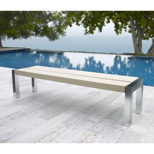 Outdoor Courtyard Benches With Wood Plastic Slats Composite Outdoor Resident