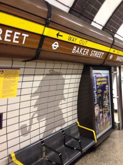 hypnoticmonkey:  Love Baker Street station.  Marylebone in the Borough of Westminster.