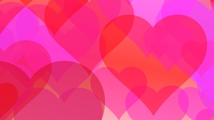 Love hearts romantic - HD animated background #24