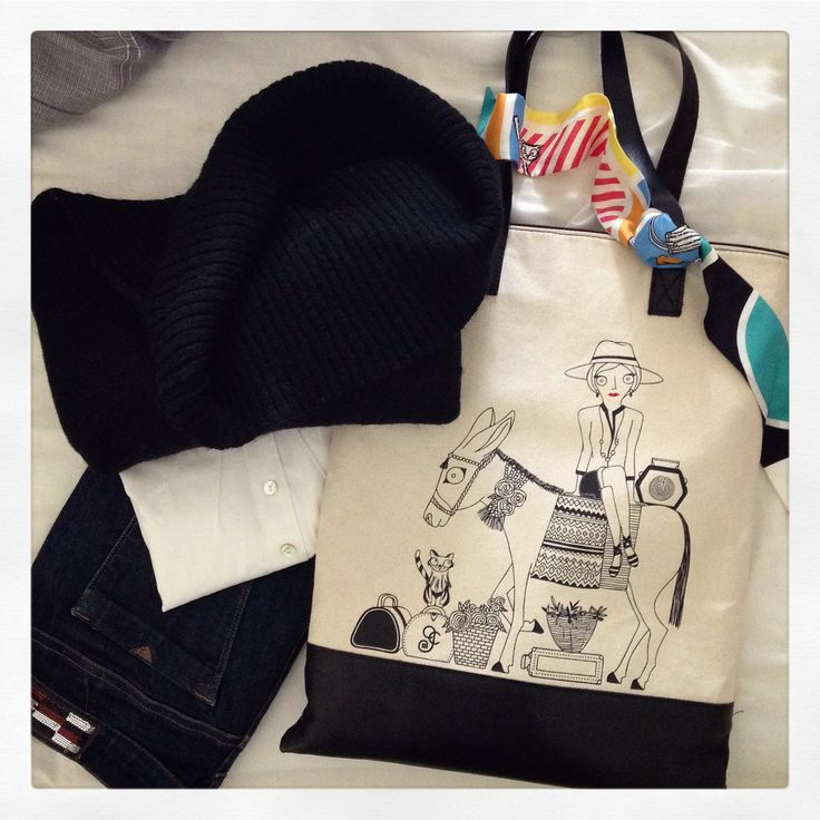 "Limited Edition ""Tote Bag & Silk Ribbon"" designed by Grecian Chic in collaboration with the greek brand Its All Greek On Me!"