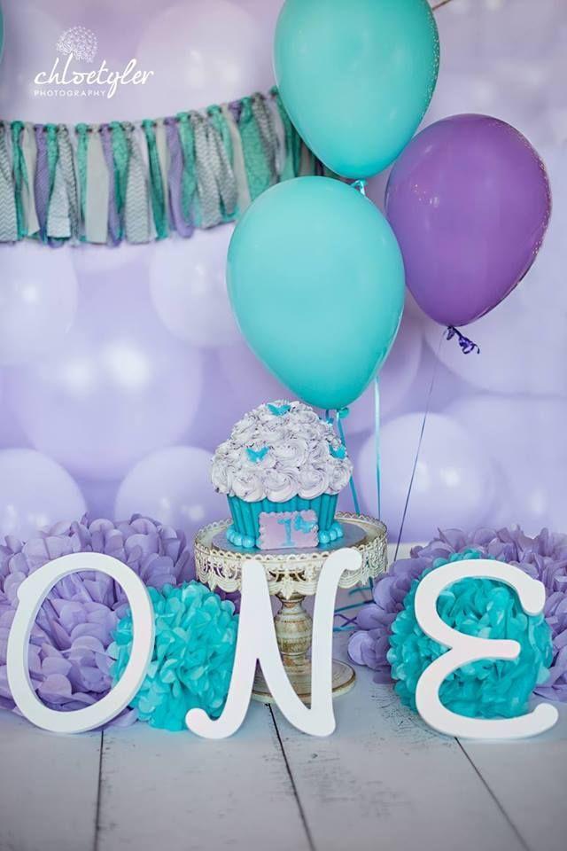 teal lavender purple party