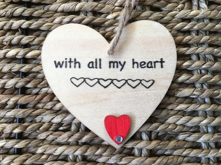 7cm Hanging With All My Heart - Valentines - Little Miss Scrabbled