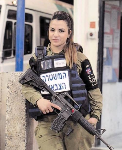 Girls are soldiers too . Israel, and they are all beautiful, strong and brave.