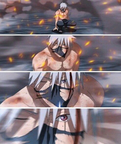 {kakashi hatake} with his mask always on despite whatever he's doing lol.