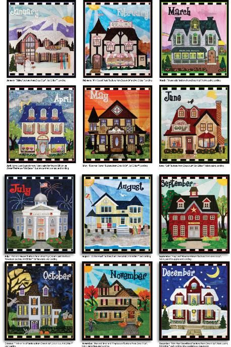 Holiday Houses Block of the Month - Stitchin Heaven