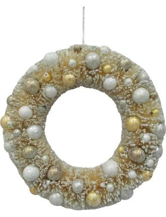 Wreath Sisal Snow Cream