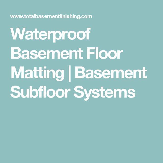 Floating Subfloor Basement: Best 25+ Basement Subfloor Ideas On Pinterest