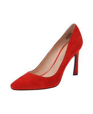 Zapatilla Nine West. Zapatilla roja con superficie de ante ...