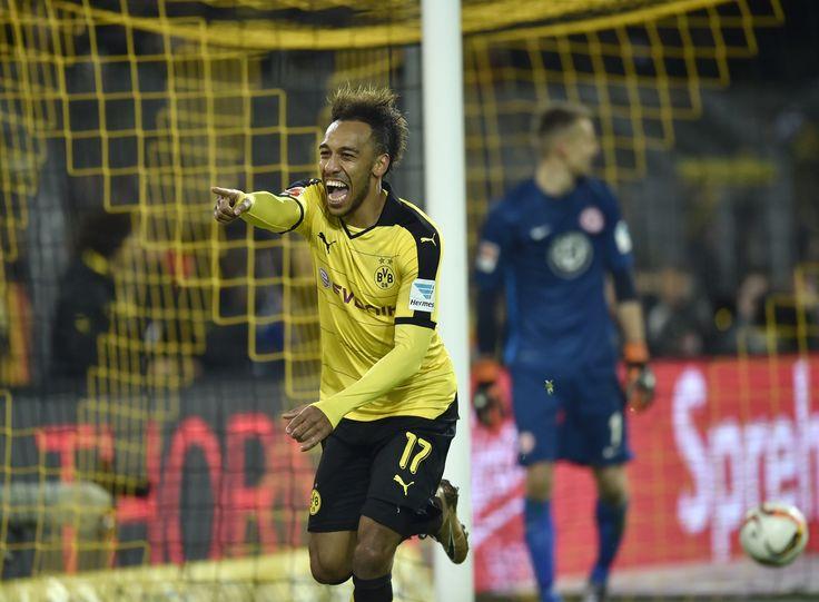 @Borussia Dortmund Official Pierre Emerick Aubameyang. Borussia Dortmund hat zum Abschluss des 16. Spieltags der Bundesliga gegen Eintracht Frankfurt gewonnen. Der BVB besiegte die Hessen mit 4x1 (1x1). Vor 81.359 Zuschauern im ausverkauften Signal Iduna Park ging die Eintracht früh durch das sechste Saisontor von Alexander Meier in Führung (6.). Henrikh Mkhitaryan glich für den BVB nach 24 Spielminuten aus #9ine