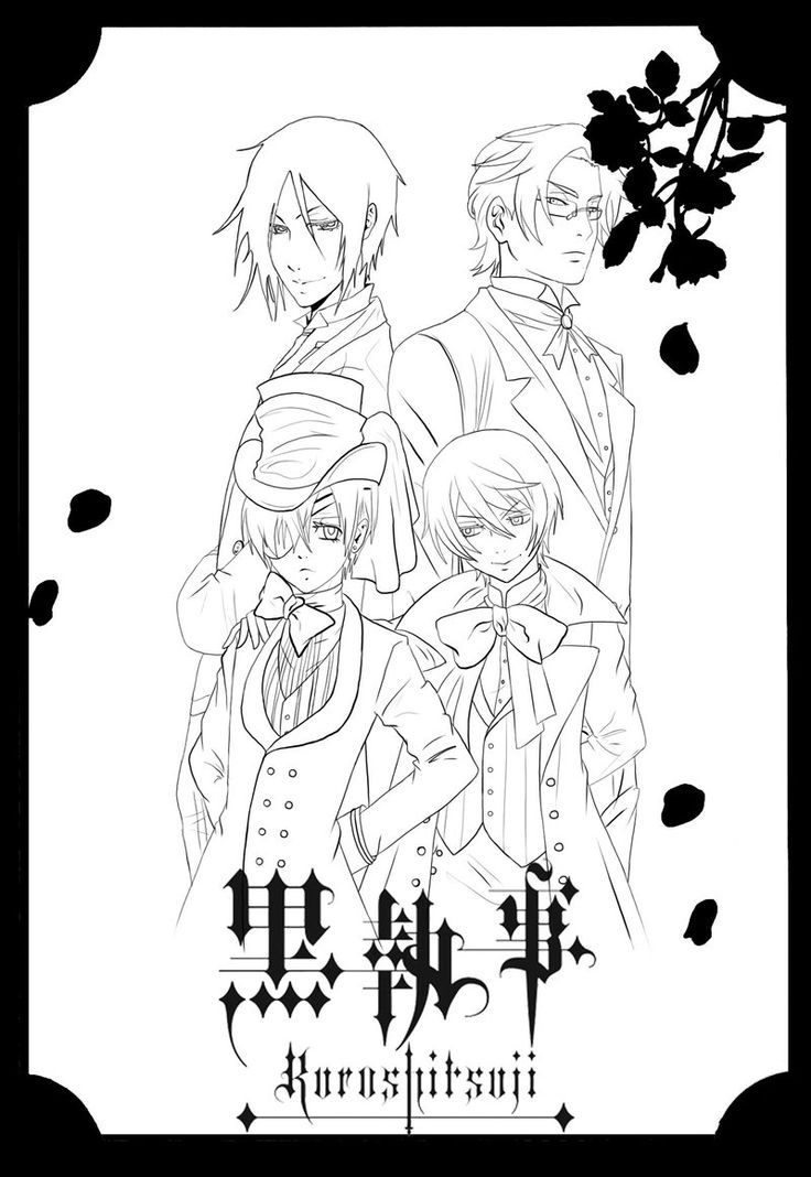 kuroshitsuji ii lineart by blacksmiley on deviantart - Black Butler Chibi Coloring Pages