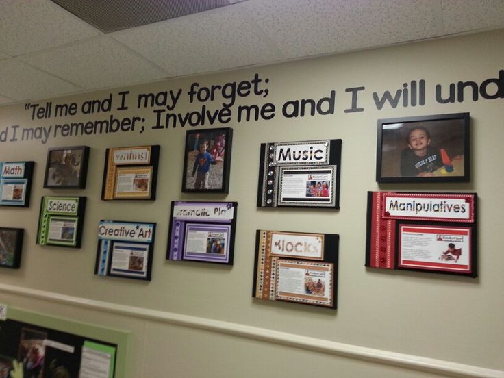 Wall display for childcare