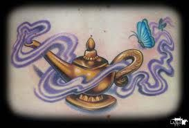 Genie Tattoos And Designs-Genie Tattoo Meanings And Ideas-Genie Lamp And Latin Lamp Tattoos