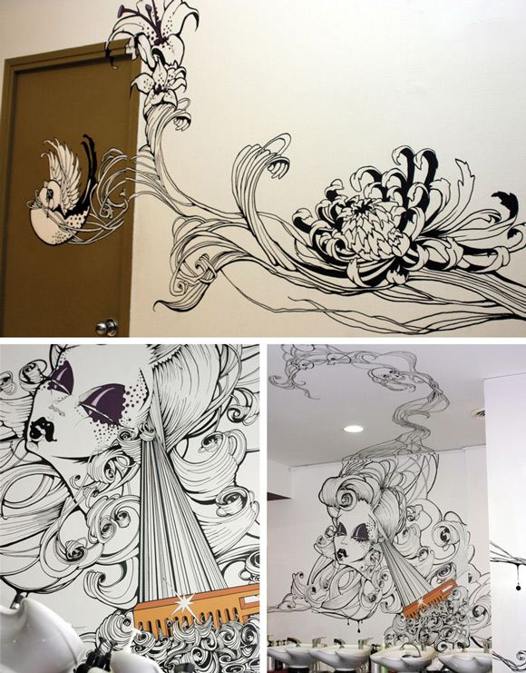 Line Art Mural : Best images about line art on pinterest wolves