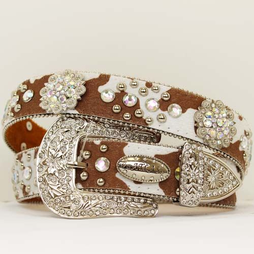 brown+cowgirl+belts | concho western belt cow print rhinestone concho western belt ...