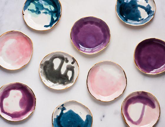 colorful plates. Suite One Studio