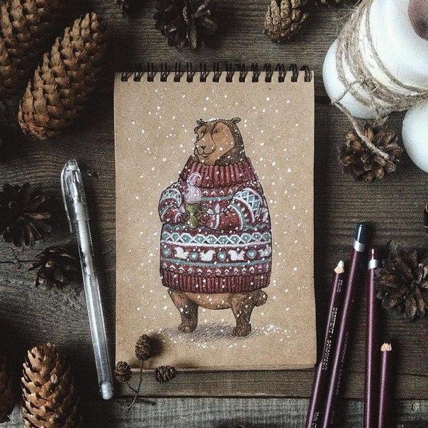 Теплые рисунки Юлии Селиной | Идеи дизайна интерьера