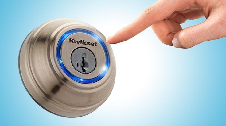 Kwikset Kevo is a Bluetooth-enabled deadbolt lock that pairs up your iPhone 4S or iPhone 5, and will let you into your abode with a single touch.