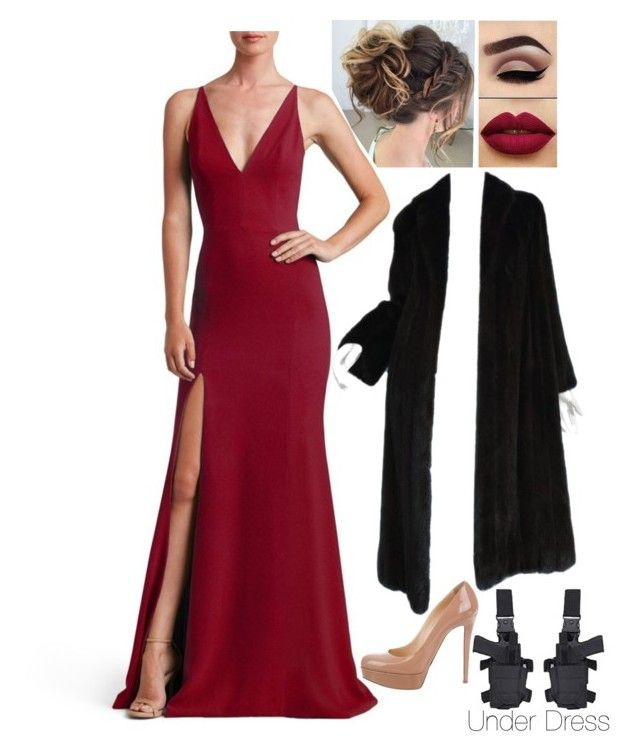 """Amber's Dinner Party Outfit (for rp)"" by selah-leffew ❤ liked on Polyvore featuring Dress the Population, John Smedley and Christian Louboutin"