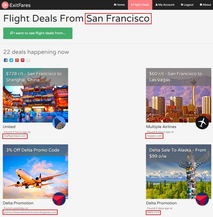ExitFares Combines the Search Power of The Flight Deal, Airfare Watch Dog, and Other Airline Deal Websites   Travel with Grant