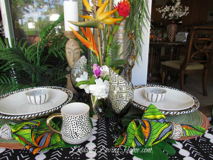 53 Best African Inspired Table Settings Images On
