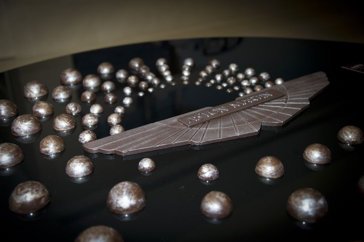 Customised 100 year celebration for Aston Martin. It is all chocolate!