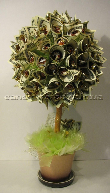 Конфетно денежное дерево своими руками картинки более длинный