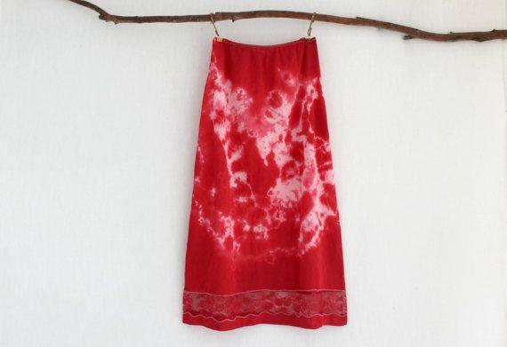 BOHEMIAN . women's tie dye skirt . petite size 10 by bohemianbabes