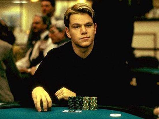 mmm young Matt Damon, playing poker.