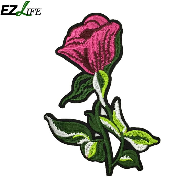 Rose Flower Iron On Patches for Clothing Parches Termoadhesivos Para Ropa Applique Embroidery Flower Patches for Clothes LQW2552 #Affiliate