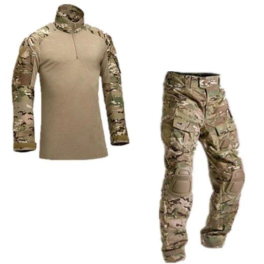 Army Military Tactical Combat Uniform Clothes With Knee Pads  25usd/set