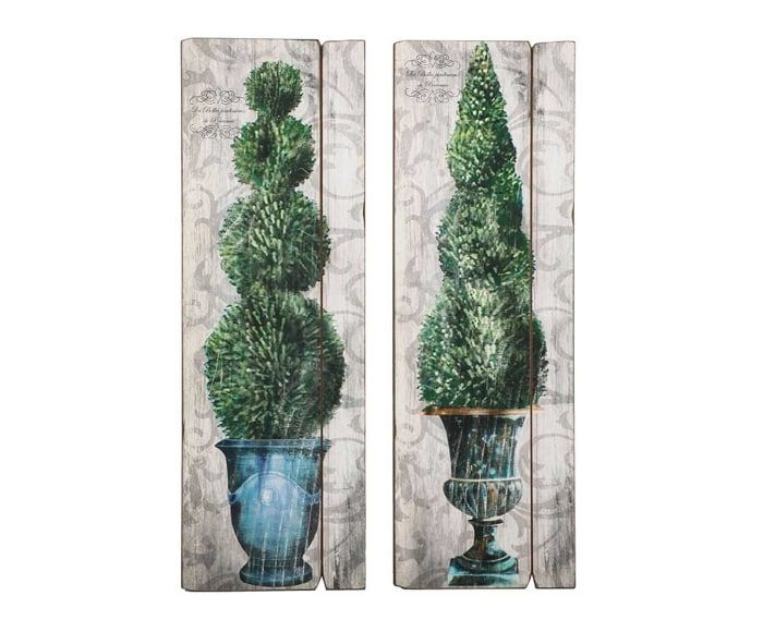 """Komplet 2 dekoracji ściennych """"Comacchio"""", 90 x 30 cm"""